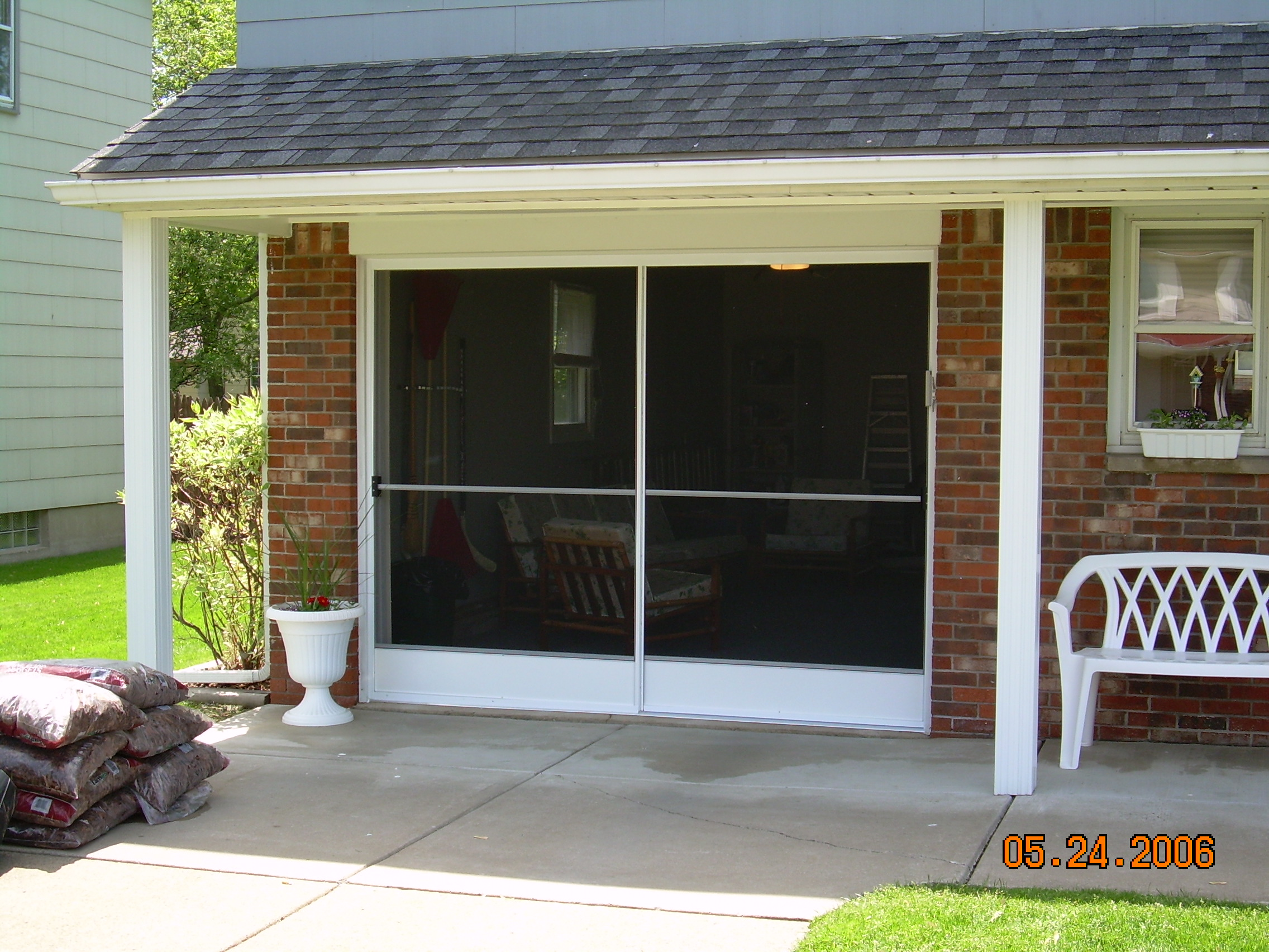 Garage screen door patio enclosure installation gallery garage screen sliding door installation solutioingenieria Image collections