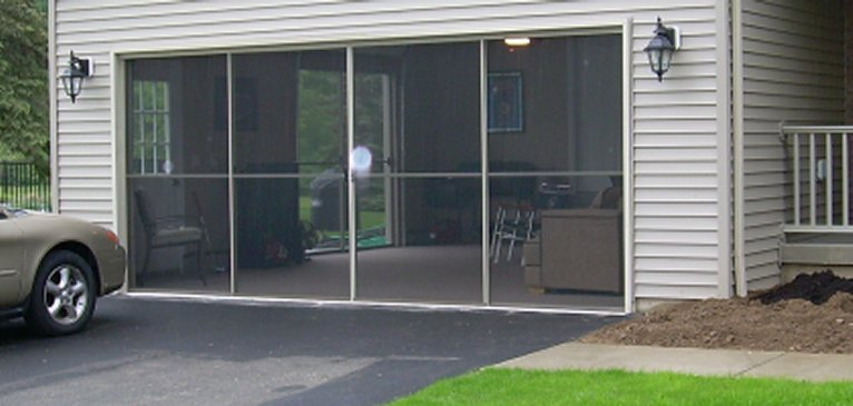 garage screen door patio enclosure installation gallery