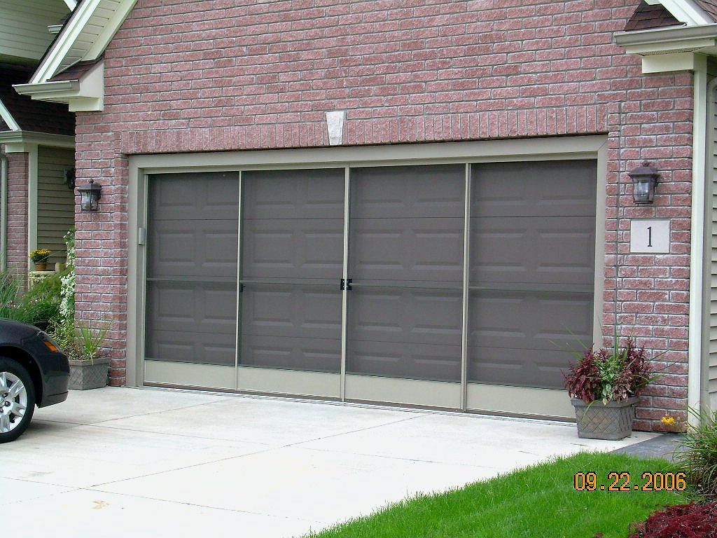 and panoramalite stoett garage panorama garages for single door double retractable screen screens