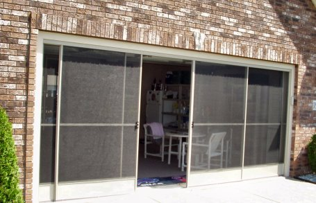 garage screen doors sliding 2