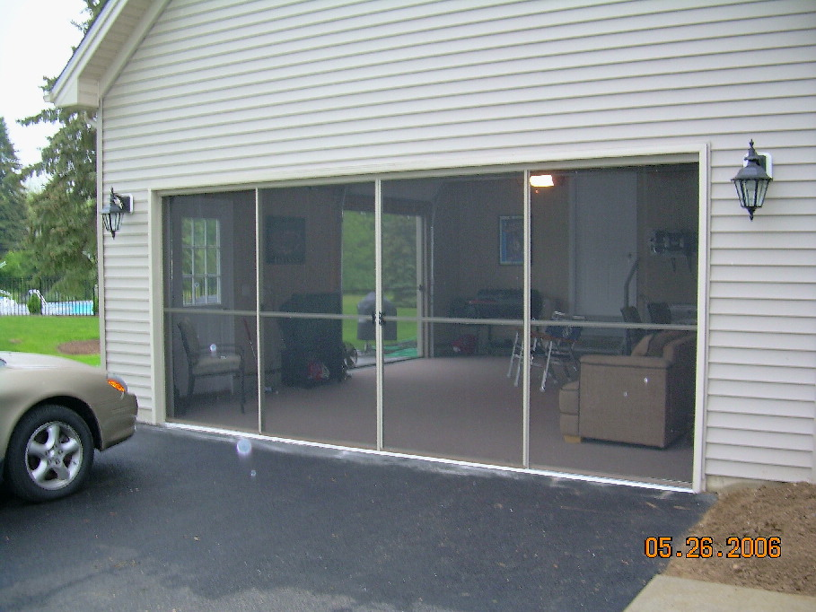 Garage screen door patio enclosure installation gallery garage screen sliding door installation solutioingenieria
