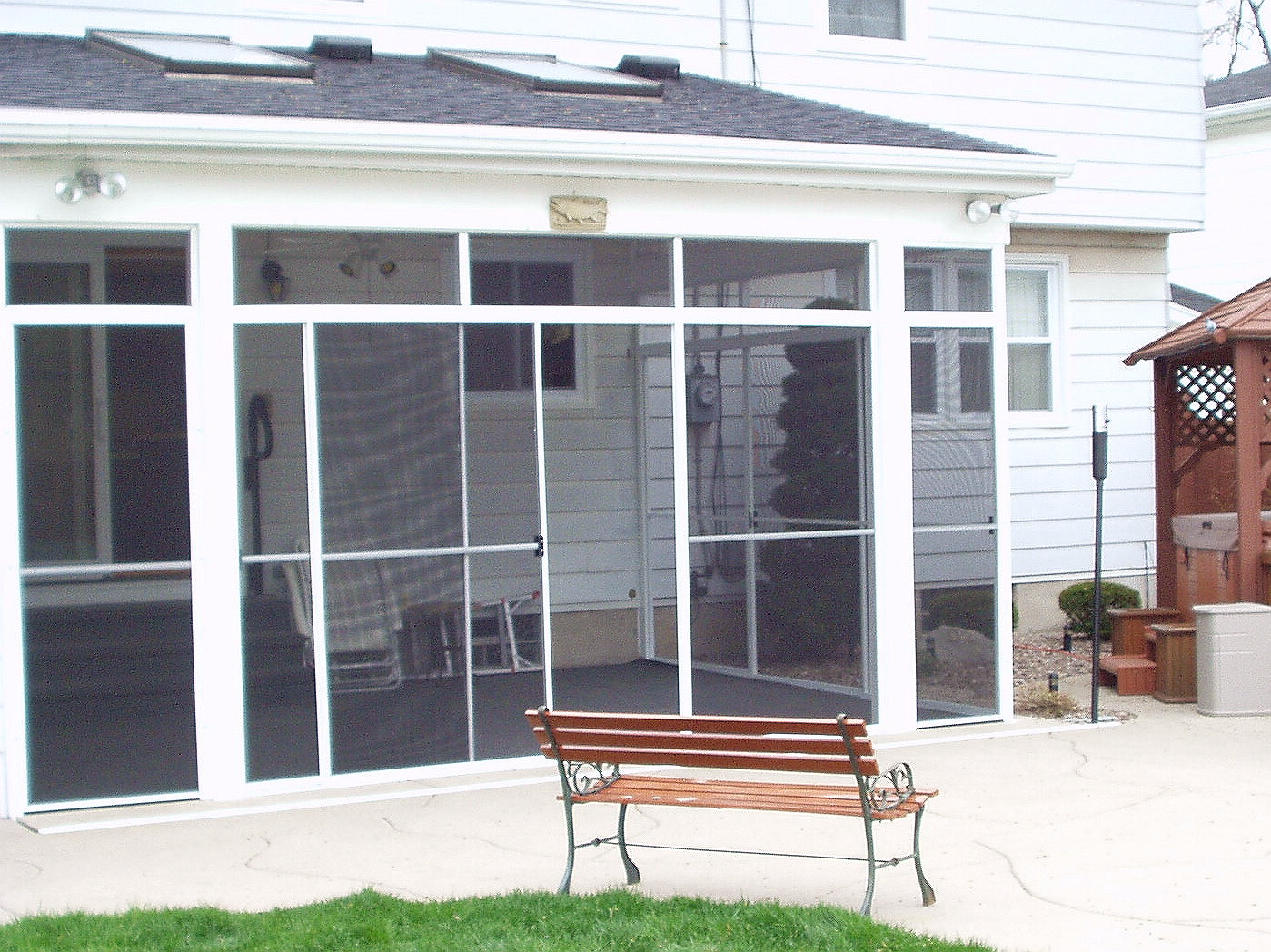 Garage Door Patio Enclosures : Garage screen door patio enclosure installation gallery